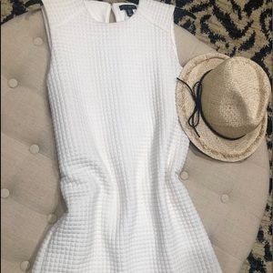 Cream quilted Willi Smith sheath dress